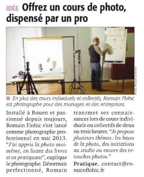 Article dans Tendance Ouest Rouen