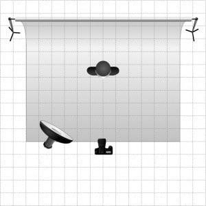 Schéma d'éclairage utilisé par Damien