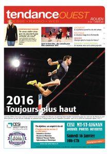 Renaud Lavillenie en Une du Tendance Ouest Rouen du 7 janvier 2016