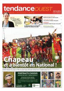 L'équipe de foot du Quevilly Rouen Métropole accède en National 1 et fait la Une du Tendance Ouest Rouen du 9 juin 2016