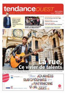 A la découverte de Talents dans les rues de Rouen avec Anton en Une du Tendance Ouest Rouen du 15 septembre 2016